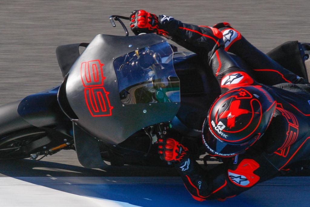 Jorge Lorenzo (99) testing his Repsol Honda RC213V at Jerez at the end of 2018. Photo courtesy of Dorna.