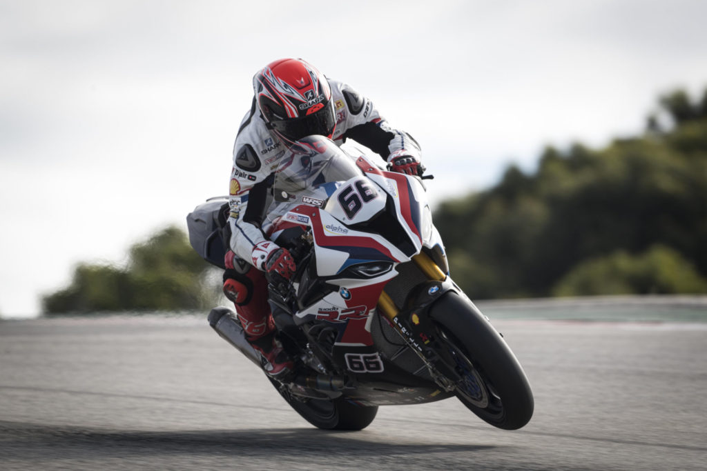 Tom Sykes (66). Photo courtesy of BMW Motorrad Motorsport WorldSBK Team.