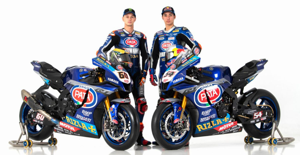 Pata Yamaha's Michael van der Mark (left) and Toprak Razgatlioglu (right). Photo courtesy of Yamaha Motor Europe.