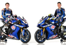 GRT Yamaha WorldSBK Junior Team's Garrett Gerloff (31) and Federico Caricasulo (64). Photo courtesy of Yamaha Motor Europe.
