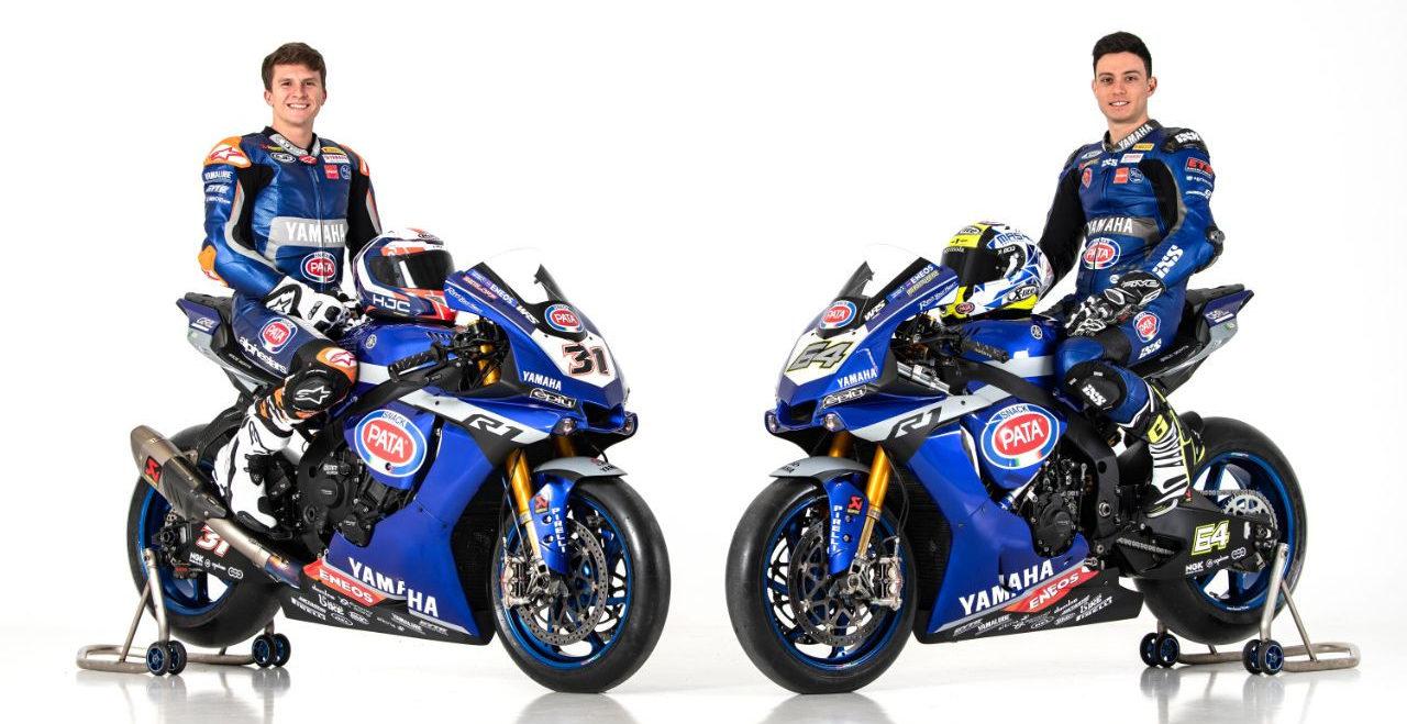 GRT Yamaha WorldSBK Junior Team's Garrett Gerloff (31) and Federico Caricasulo (64). Photo courtesy of Yamaha Motor Europe.