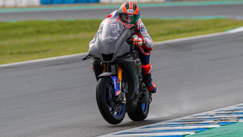 Pata Yamaha's Michael van der Mark (60) in Spain. Photo courtesy of Dorna World SBK Press Office.