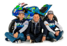 Matteo Ferrari (left), Fausto Gresini (center), and Alessandro Zaccone (right). Photo courtesy of Gresini Racing.