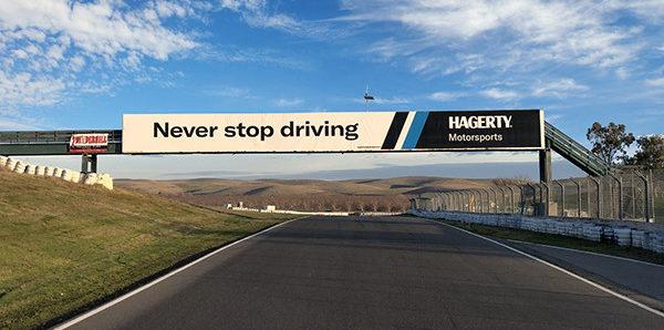 """The Hagerty Bridge"" at Thunderhill Raceway Park. Photo courtesy of Hagerty."