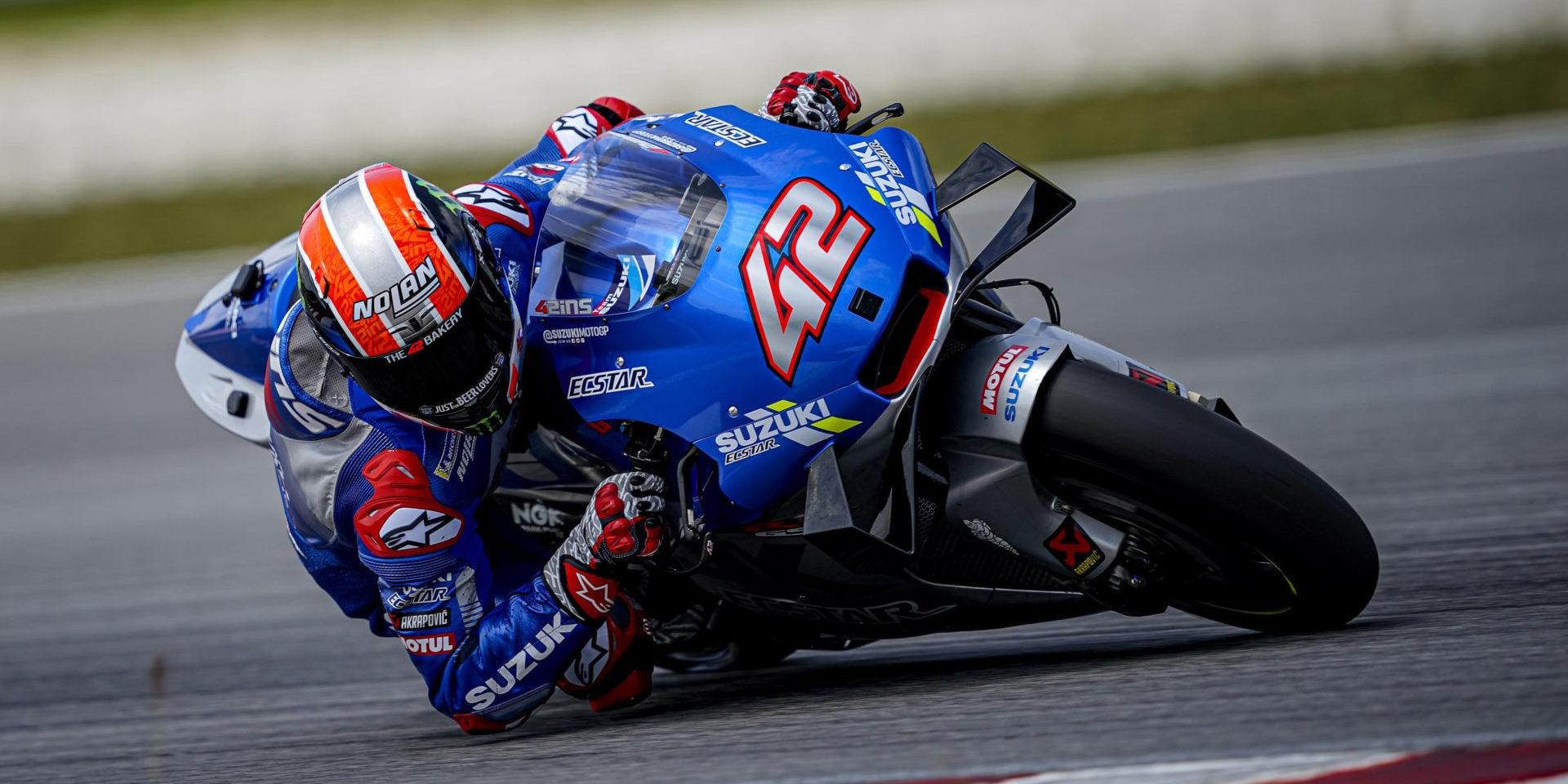 Alex Rins (42). Photo courtesy of Team Suzuki ECSTAR.