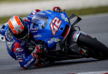 Alex Rins (42). Photo courtesy of Team Suzuki ECSTAR.