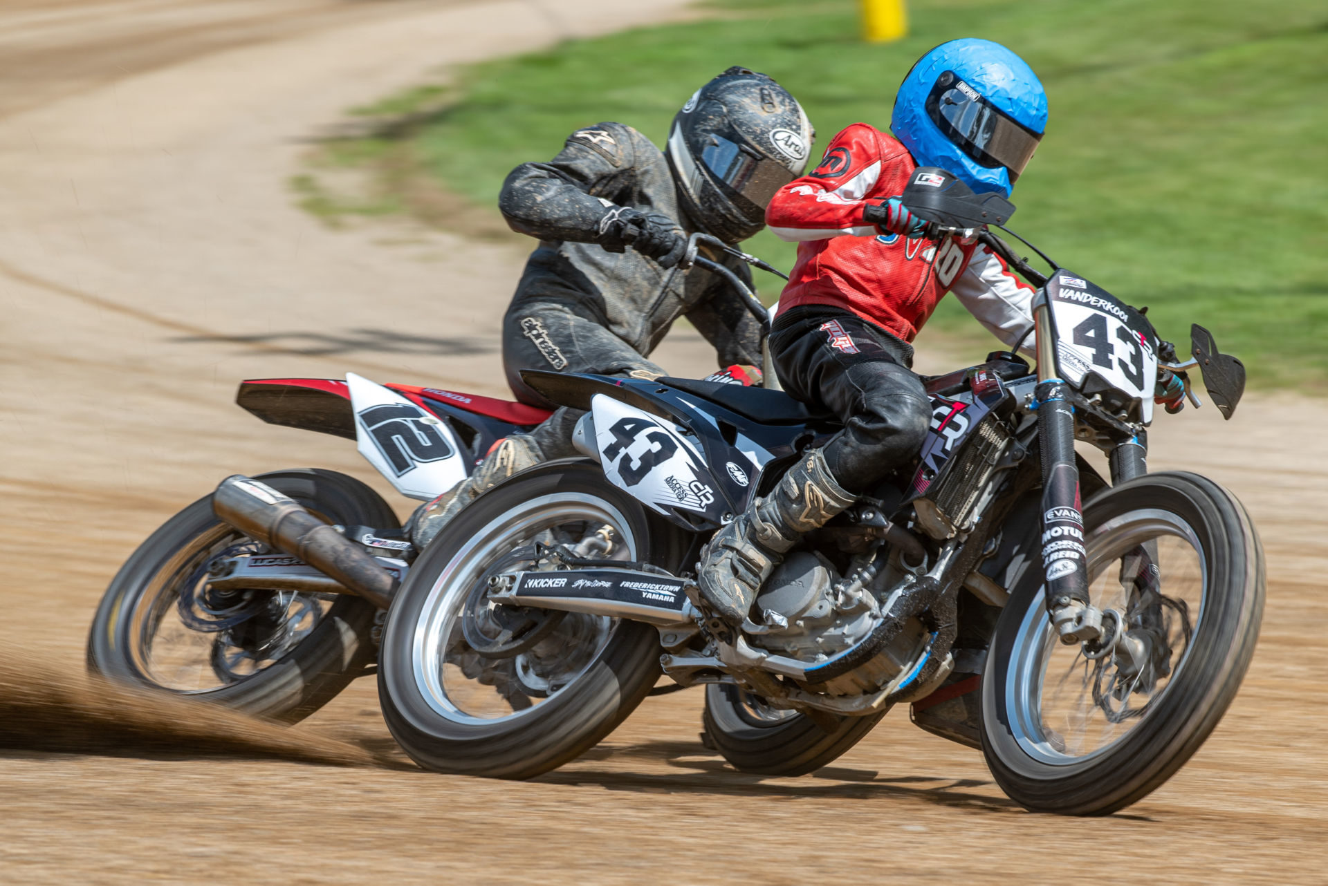 Action from the 2019 AMA Flat Track Grand Championship. Photo by Jen Muecke, courtesy of AMA.