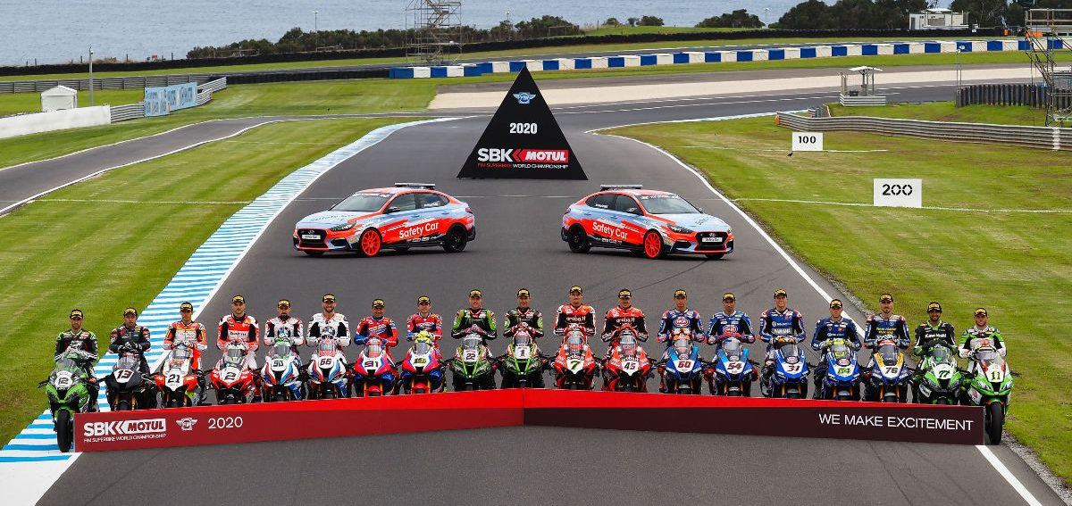 The 2020 FIM Superbike World Championship field. Photo courtesy of Dorna WorldSBK Press Office.