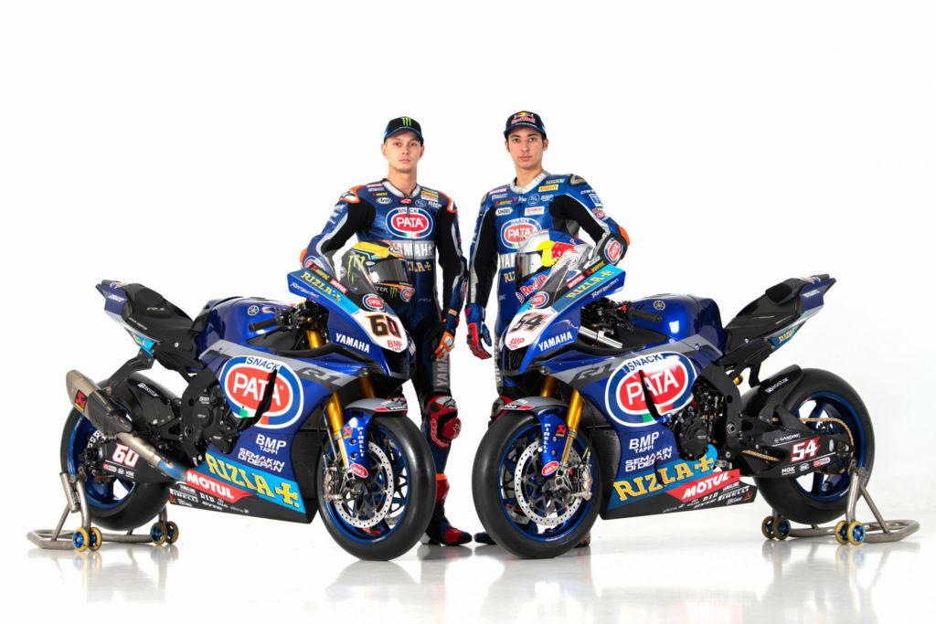 Pata Yamaha's Michael van der Mark (left) and Toprak Razgatlioglu (right). Photo courtesy of Pata Yamaha.