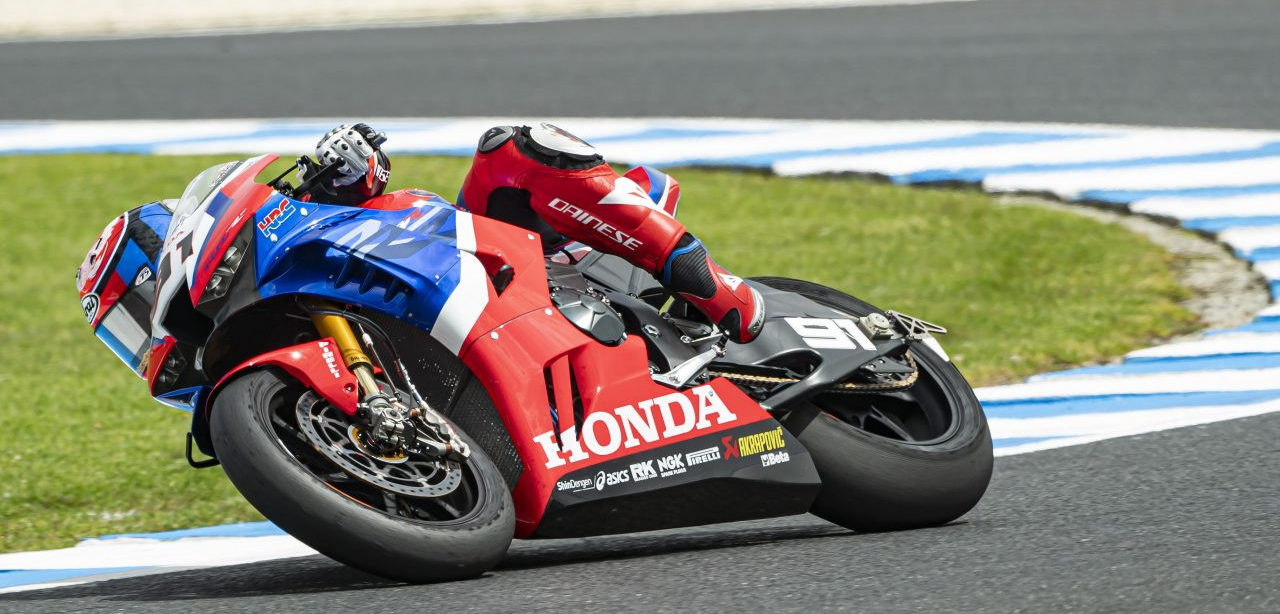 Leon Haslam (91). Photo courtesy of Honda Pro Racing.