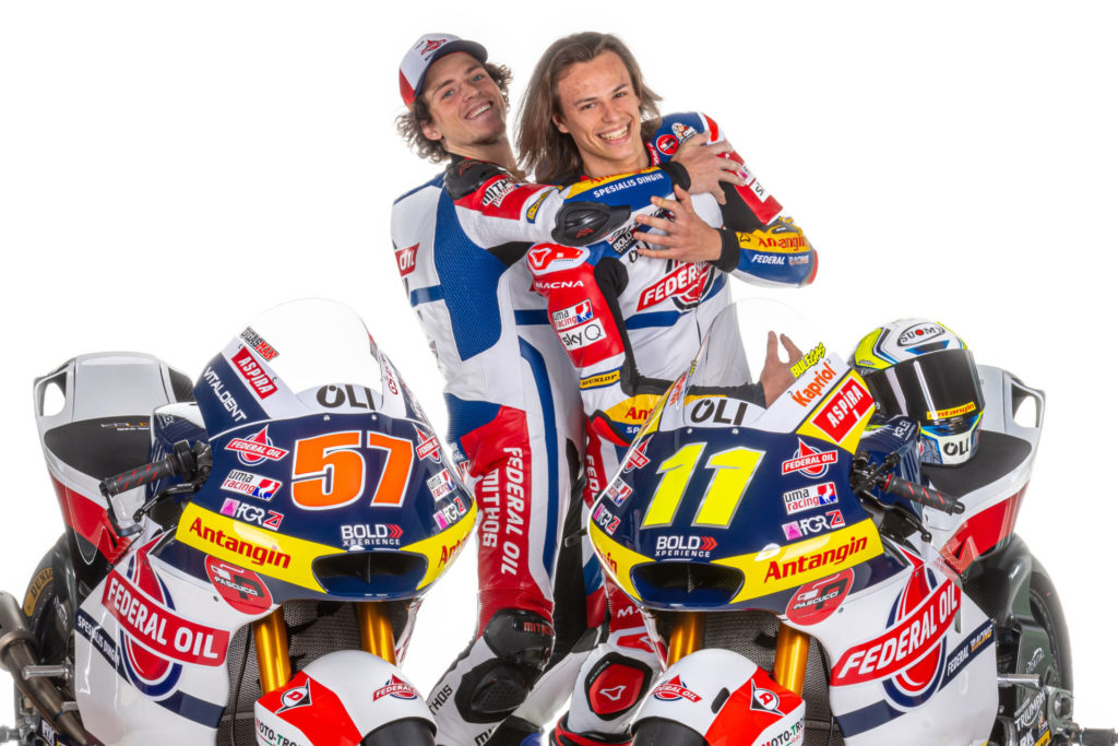 Edgar Pons (left) and Nicolo Bulega (right). Photo courtesy of Gresini Racing.