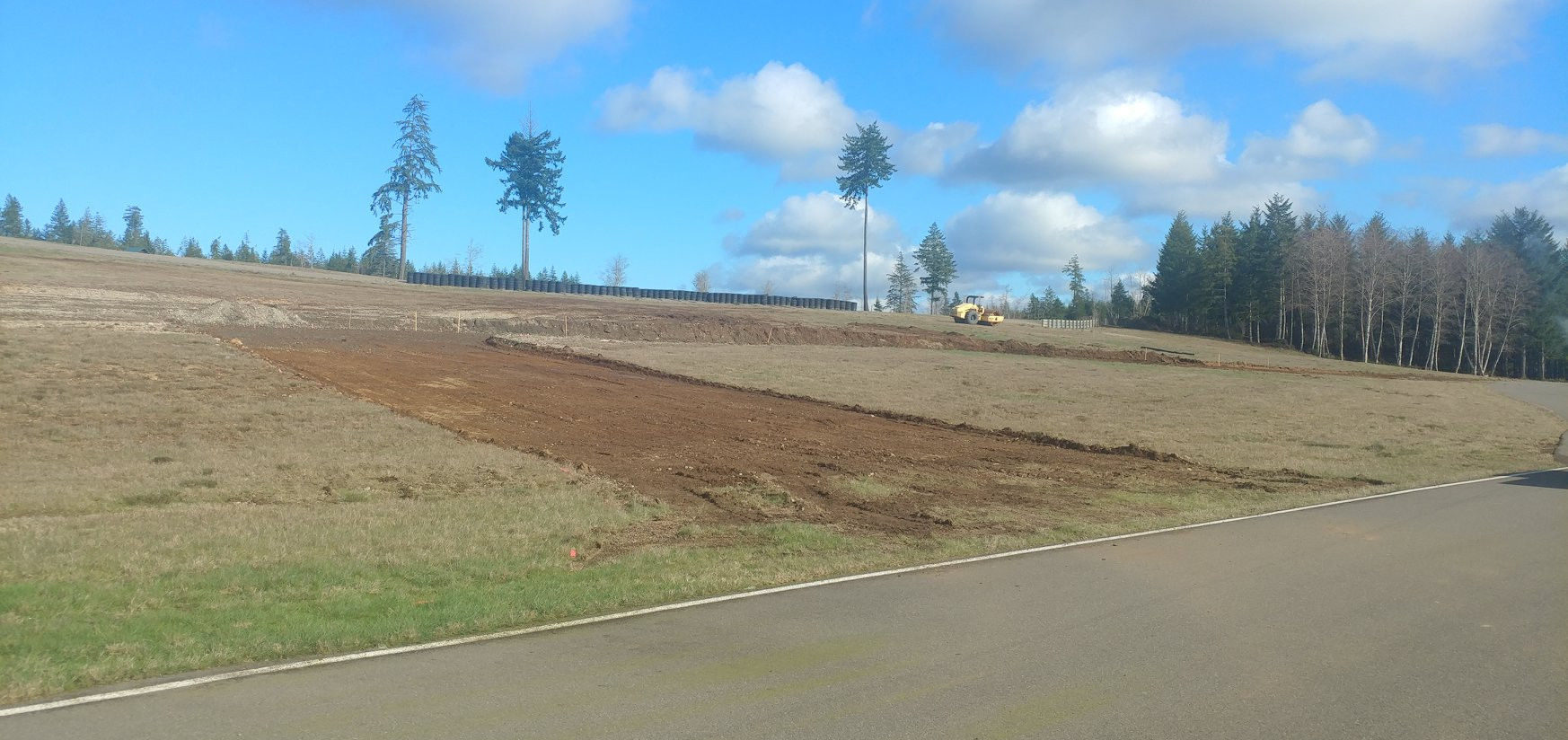 Ridge Motorsports Park has started work on a new chicane on its 2,850-foot front straightaway for MotoAmerica to use during its event June 26-28, 2020. Photo courtesy of Ridge Motorsports Park.