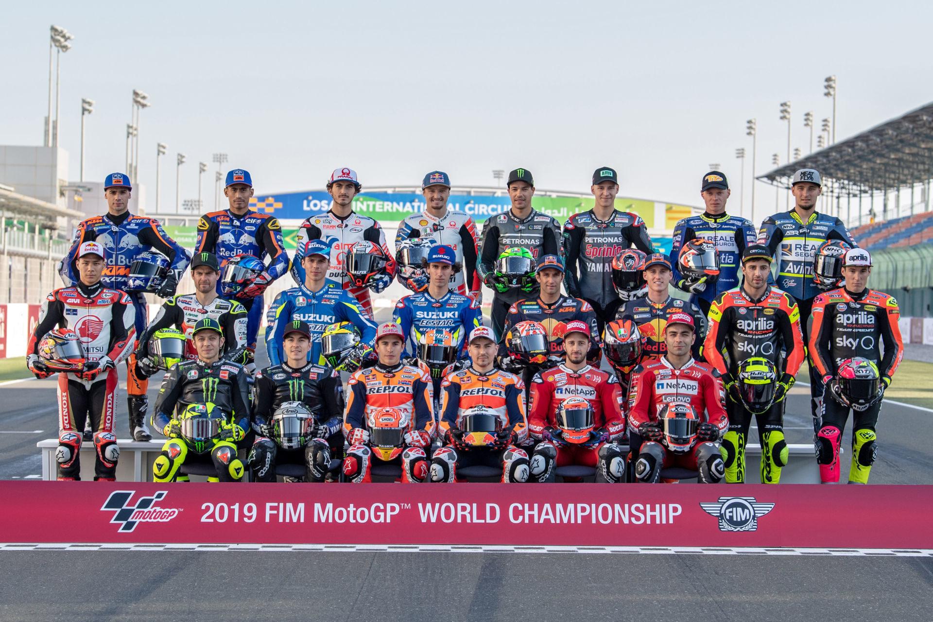 The 2019 FIM MotoGP World Championship field. Photo courtesy of Dorna.