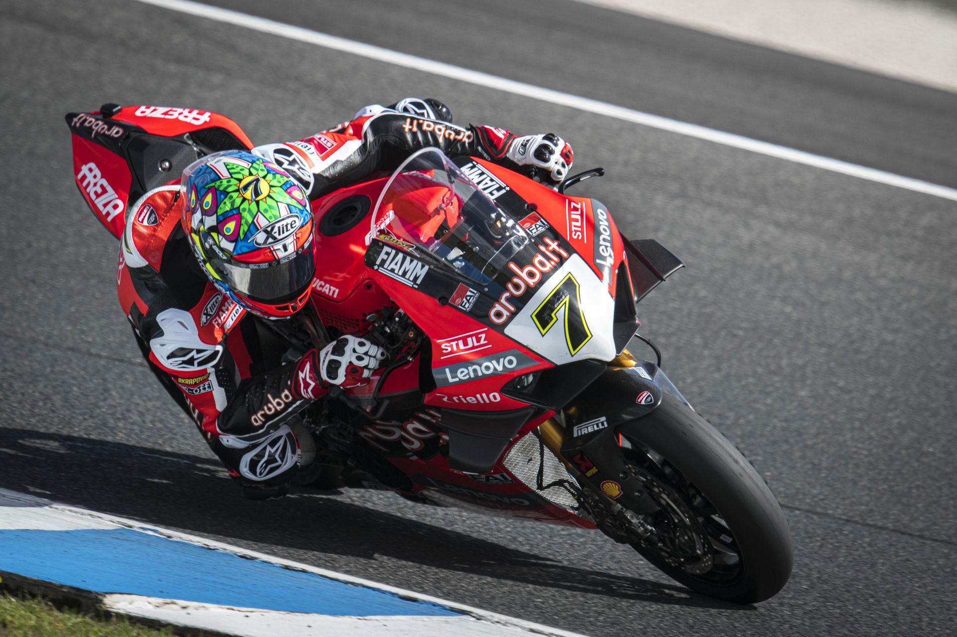 Chaz Davies (7). Photo courtesy of Aruba.it Racing Ducati.