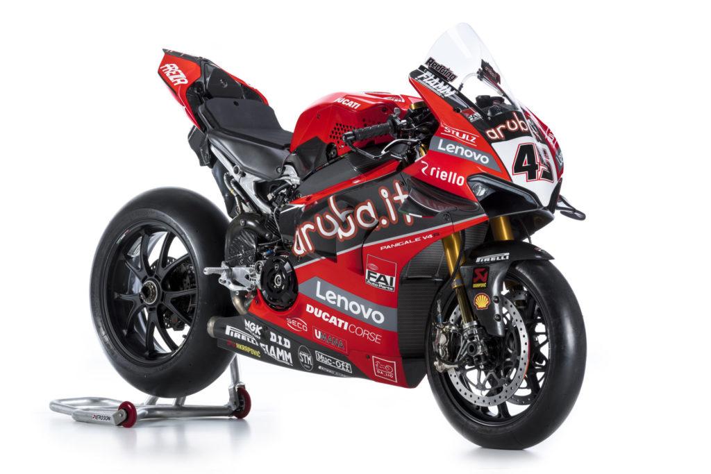 Scott Redding's 2020 Ducati Panigale V4 R Superbike. Photo courtesy of Ducati.
