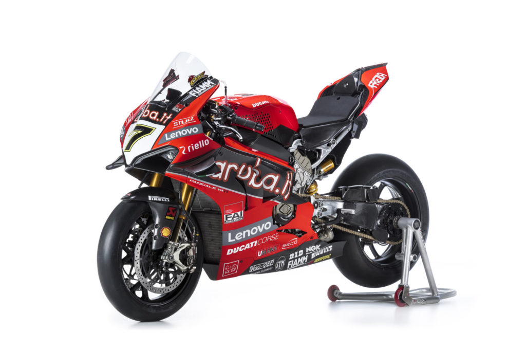 Chaz Davies' 2020 Ducati Panigale V4 R Superbike. Photo courtesy of Ducati.