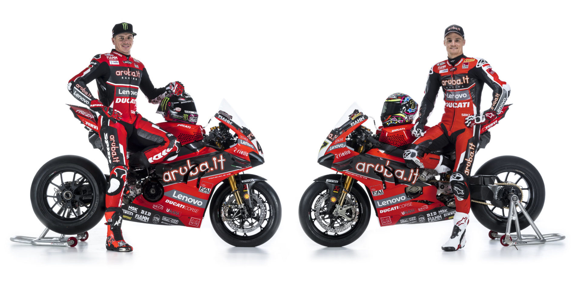 Chaz Davies (right) and Scott Redding (left). Photo courtesy of Aruba.it Racing Ducati.