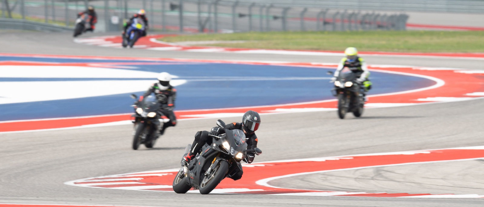 Action from an Aprilia Racers Day at Circuit of The Americas. Photo courtesy of Aprilia USA.