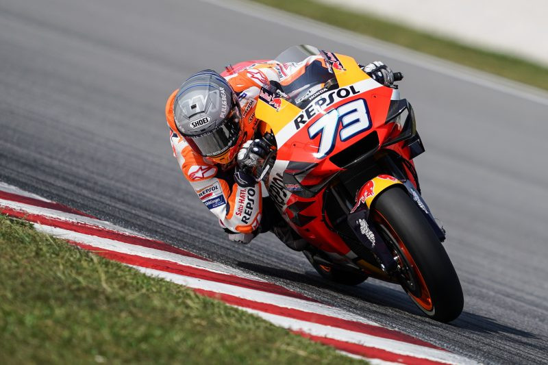 Alex Marquez (73). Photo courtesy of Repsol Honda.