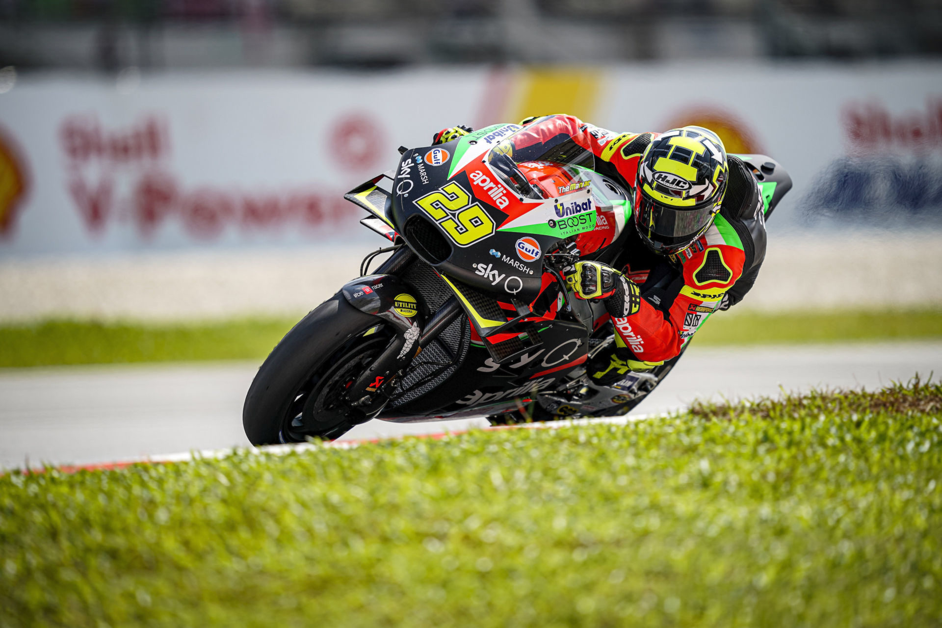 Andrea Iannone (29). Photo courtesy of Aprilia Gresini Racing.