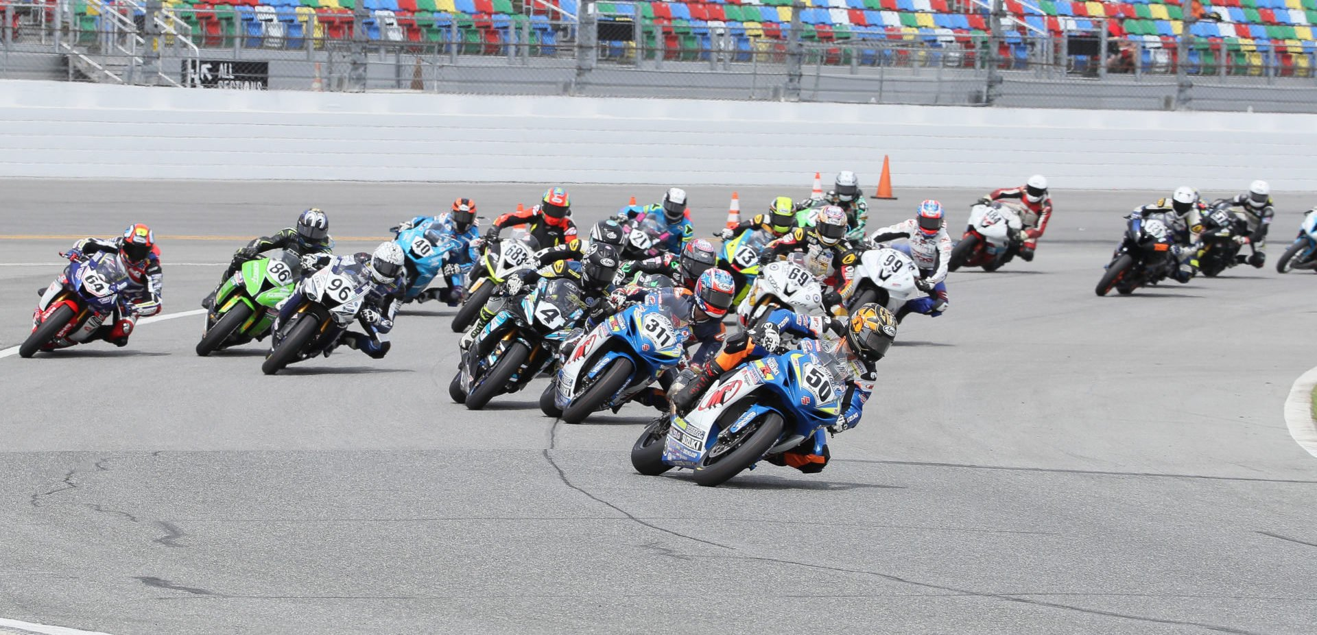The start of the 2019 Daytona 200. Photo by Brian J. Nelson.