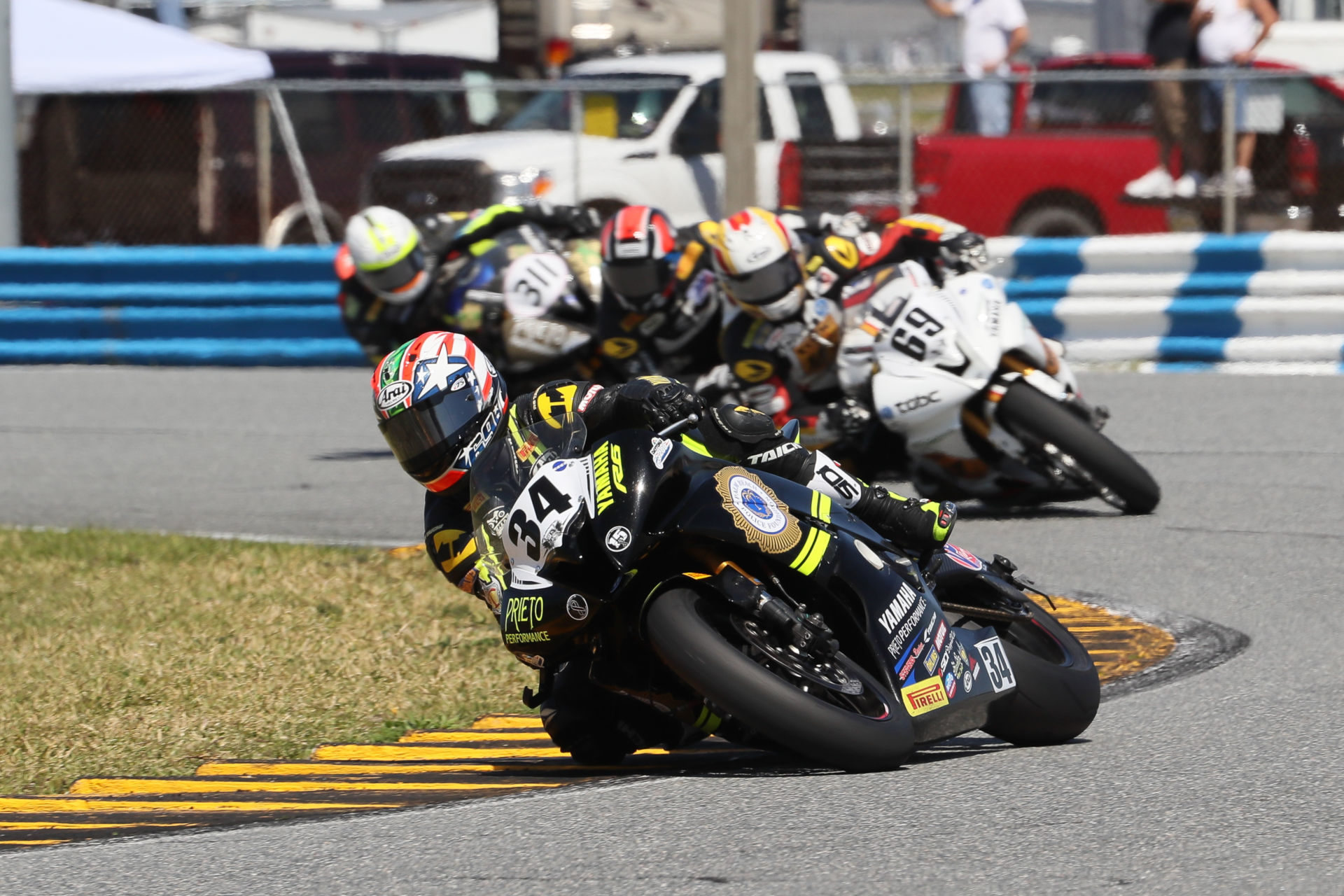 Michael Barnes (34), as seen during the 2017 Daytona 200. Photo by Brian J. Nelson.