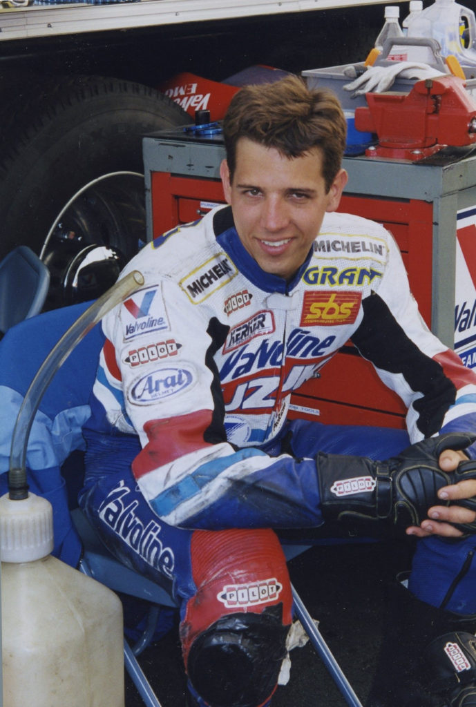 Grant Lopez, as seen during the 1997 racing season. Photo by John Ulrich.