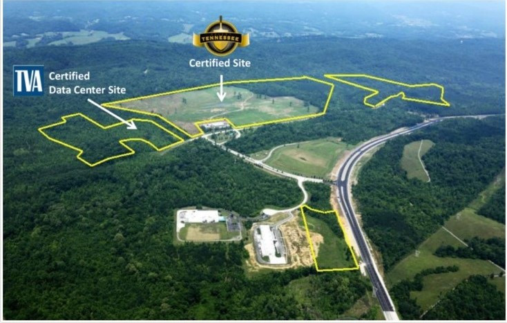 The Horizon Center and its available parcels of land in Oak Ridge, Tennessee. Photo courtesy of the city of Oak Ridge.