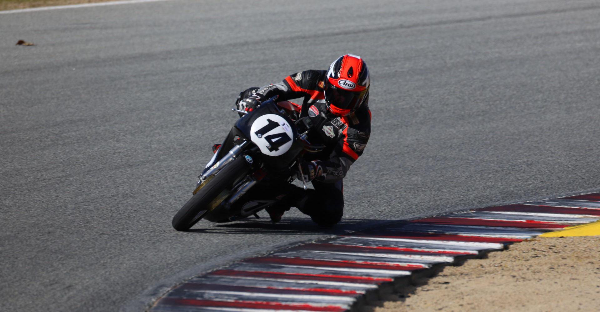 Brian Larrabure (14). Photo by etechphoto.com, courtesy of AHRMA.