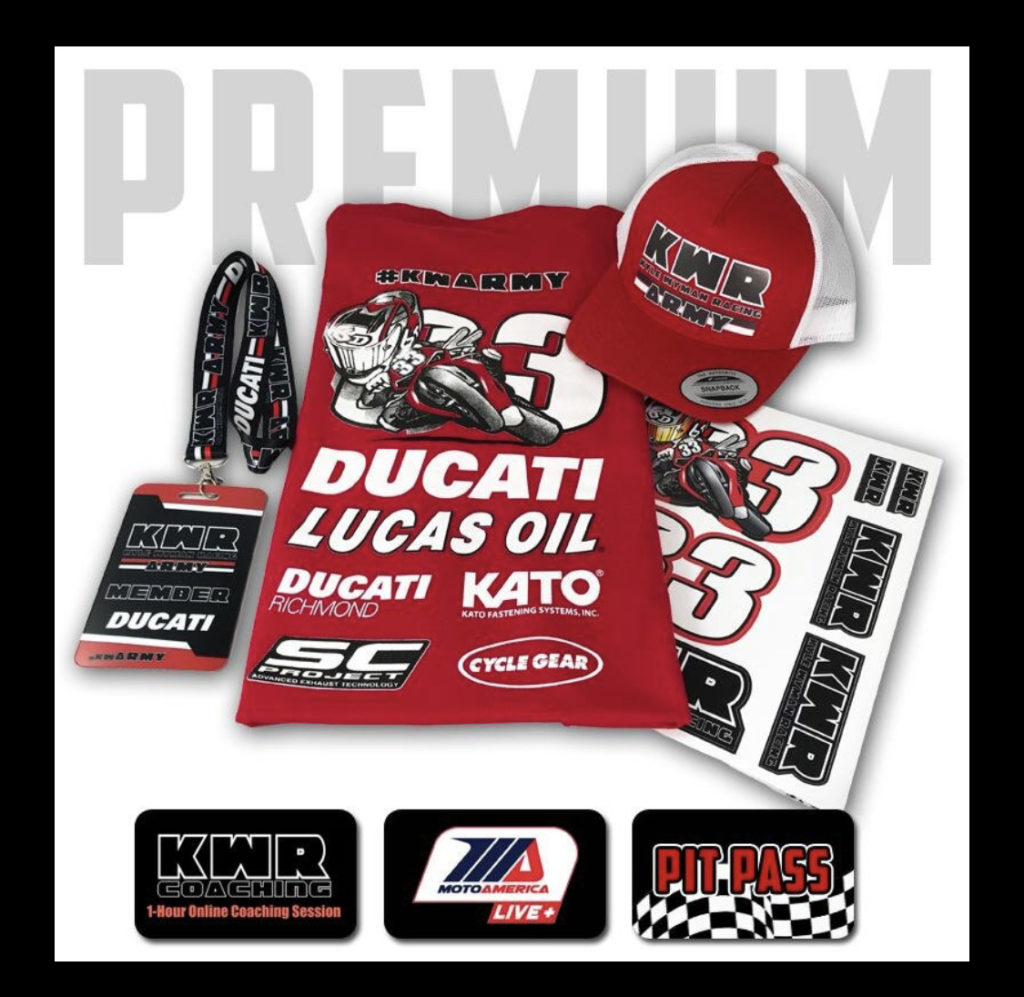 The KW Army Premium membership package. Photo courtesy of Kyle Wyman Racing.