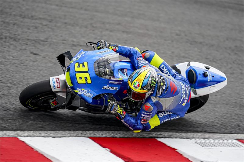 Joan Mir (36). Photo courtesy of Team Suzuki ECSTAR.