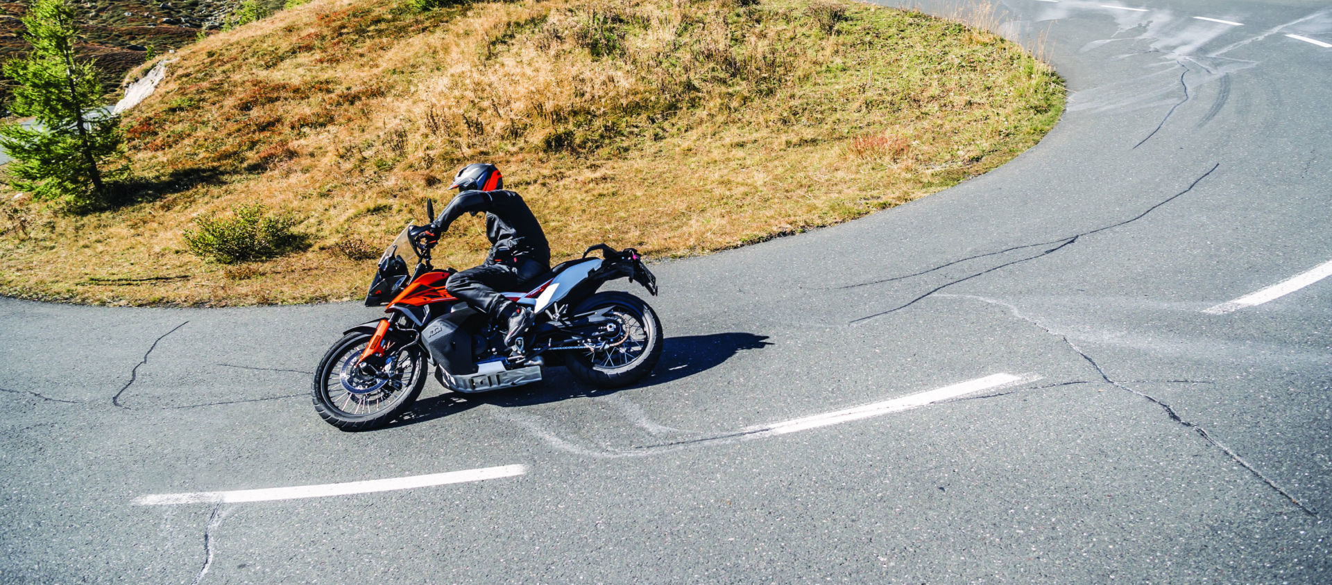 A KTM 790 Adventure at speed. Photo courtesy of KTM North America.