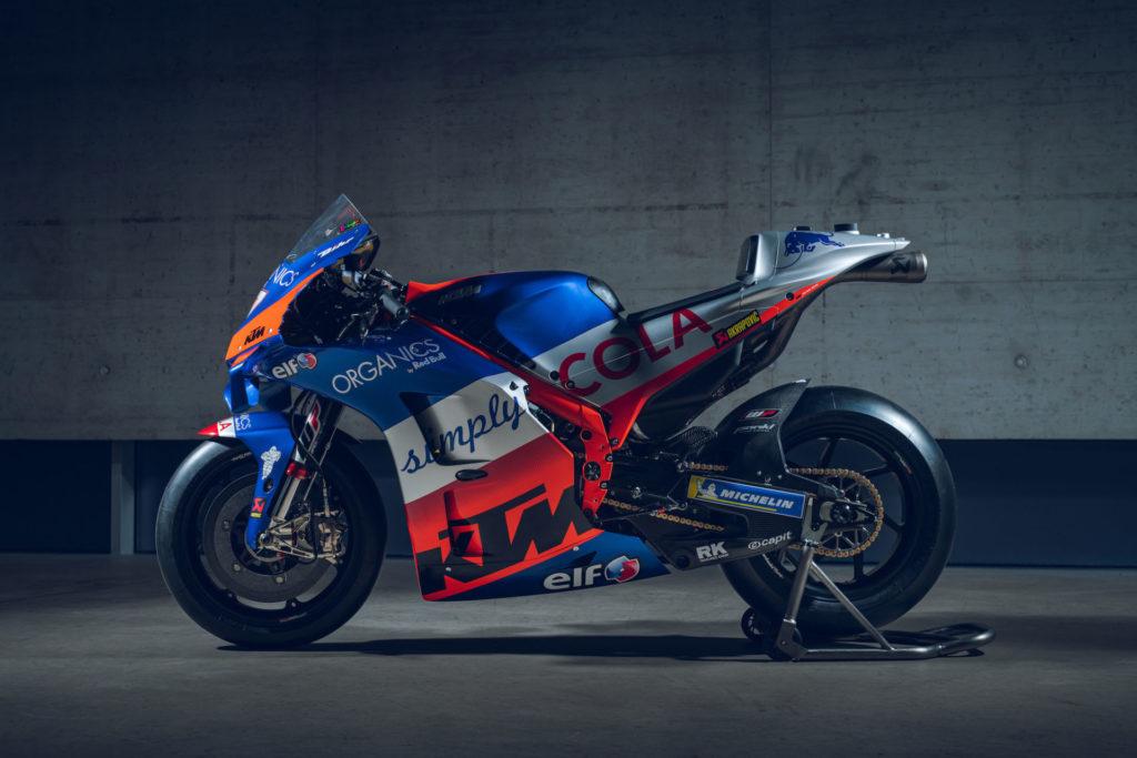 Iker Lecuona's Red Bull KTM Tech3 RC16 MotoGP racebike. Photo by Sebas Romero, courtesy of KTM.