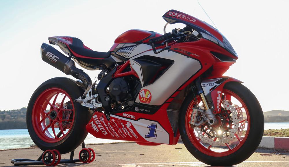 Randy Krummenacher's MV Agusta F3 675 Supersport World Championship racebike. Photo courtesy of MV Agusta.
