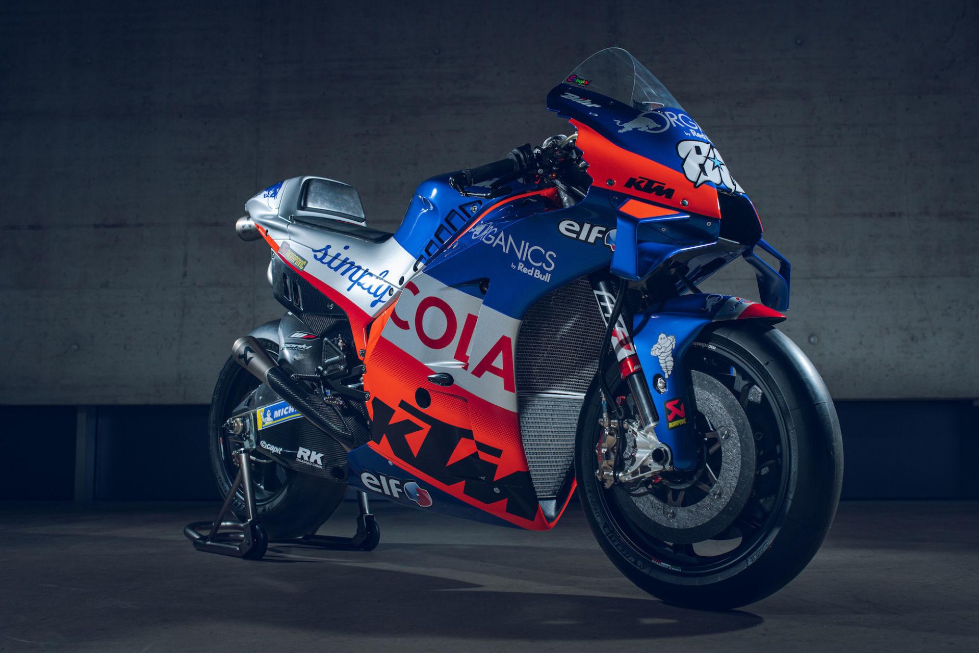 Miguel Oliveira's Red Bull KTM Tech3 RC16 MotoGP racebike. Photo by Sebas Romero, courtesy of KTM.