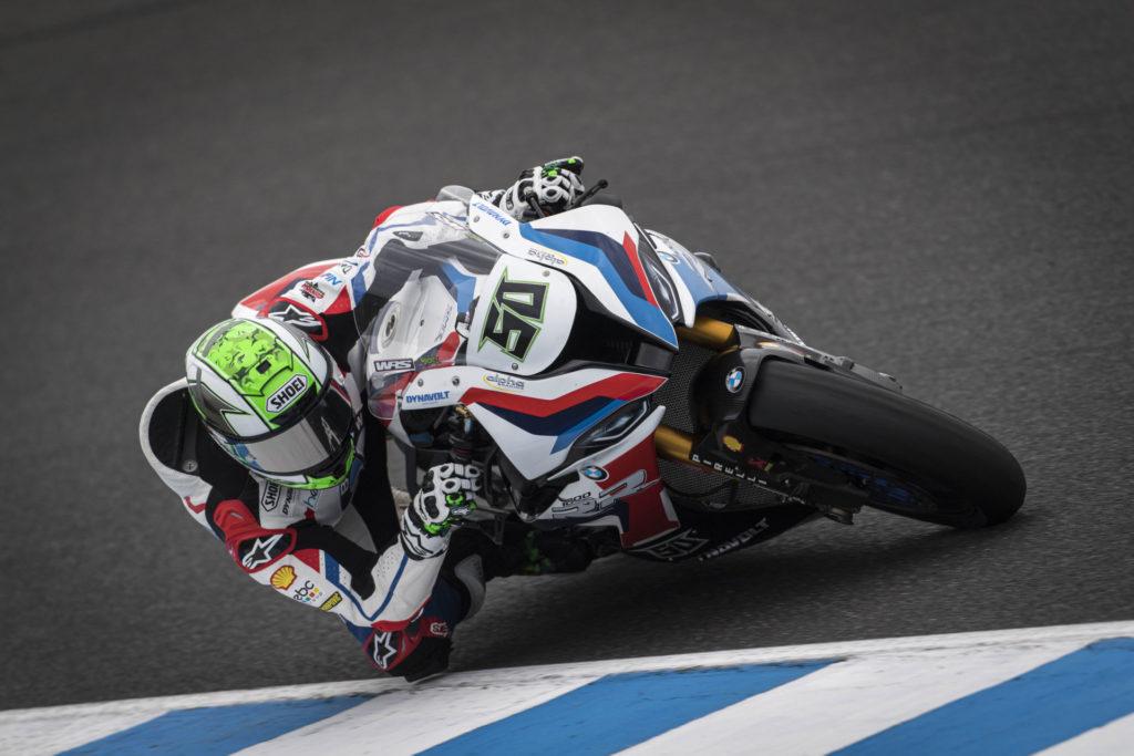 Eugene Laverty (50). Photo courtesy of BMW Motorrad Motorsport.