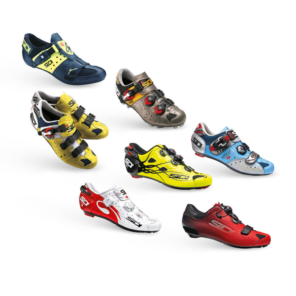 Some of Sidi's current cycling products. Photo courtesy of Sidi.