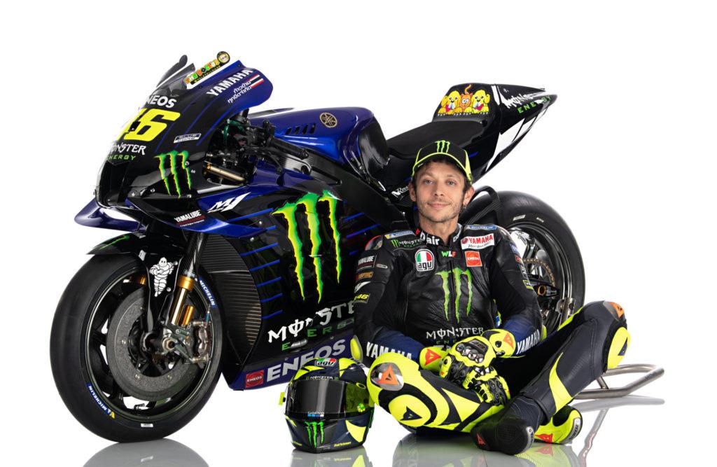 Valentino Rossi. Photo courtesy of Monster Energy Yamaha.
