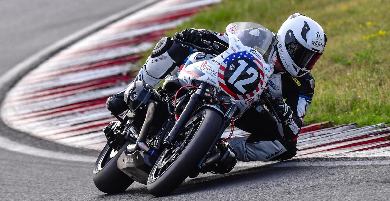 American Nate Kern (12) in action during the 2019 BMW Motorrad BoxerCup. Photo courtesy of Wunderlich Motorsport.