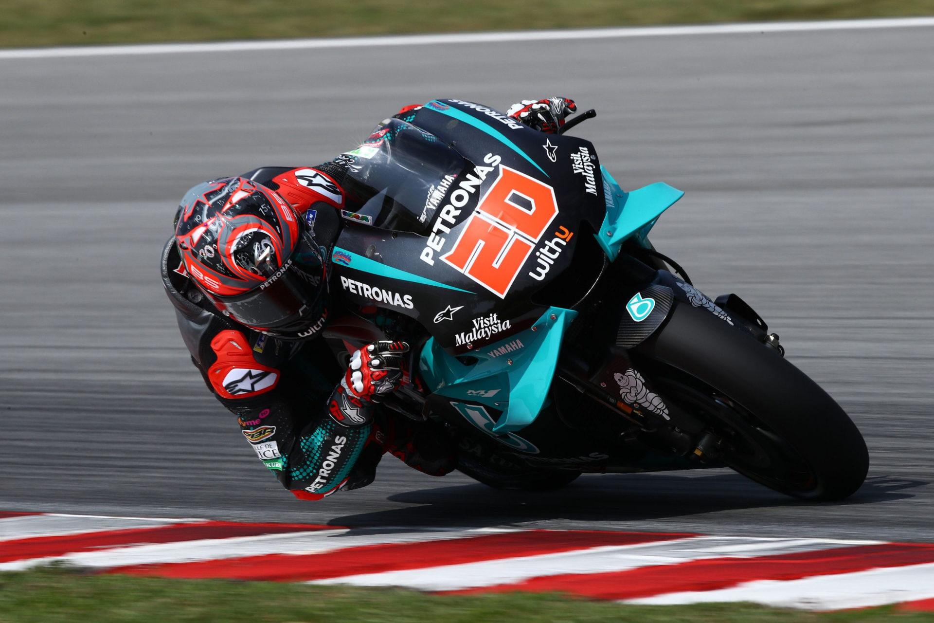Fabio Quartararo (20). Photo courtesy of PETRONAS Yamaha Sepang Racing Team.