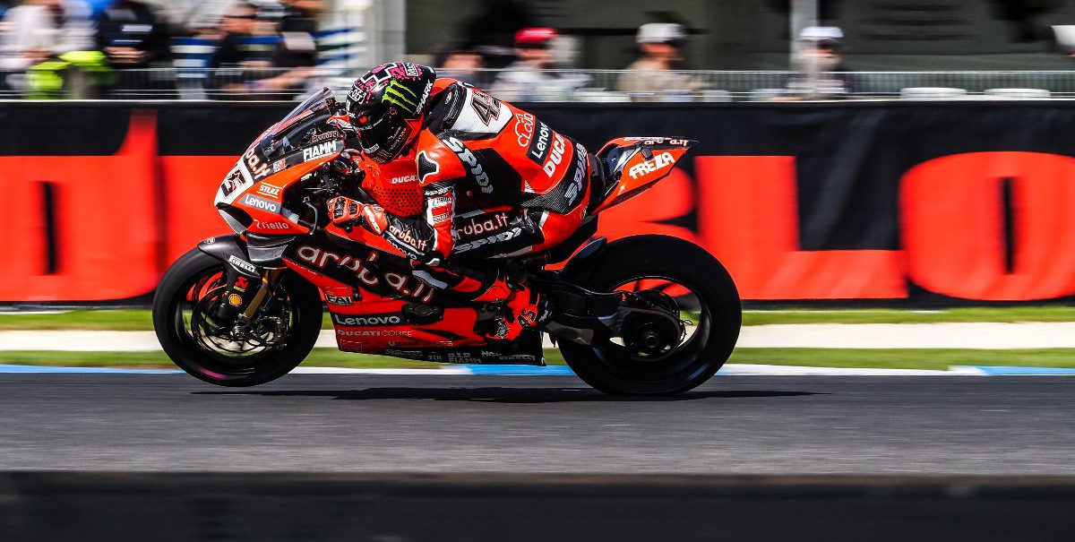 Scott Redding (45) was quickest during World Superbike practice Friday at Phillip Island. Photo courtesy of Dorna WorldSBK Press Office.