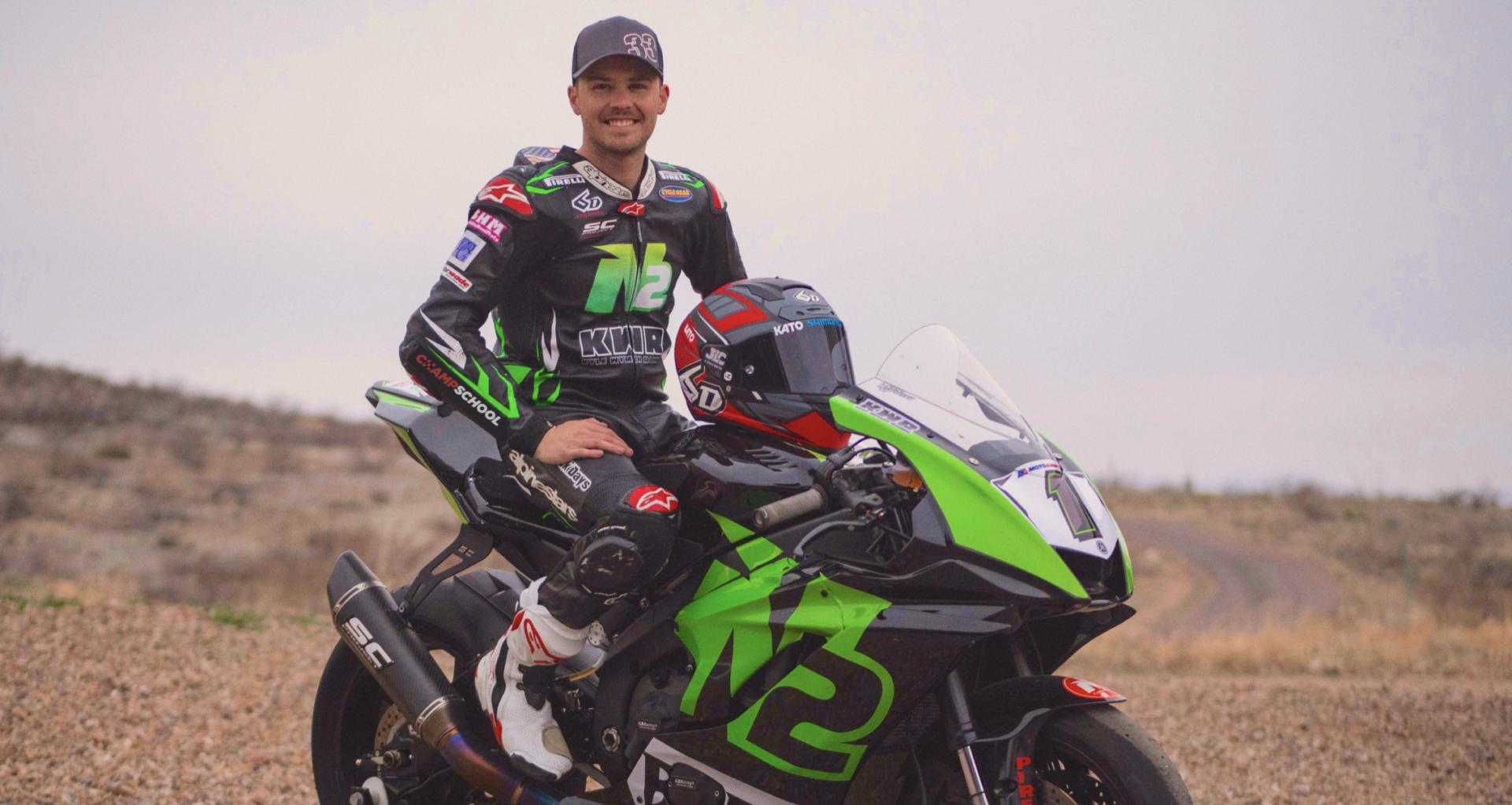 Kyle Wyman, winner of the 2019 Daytona 200. Photo courtesy of N2 Racing.