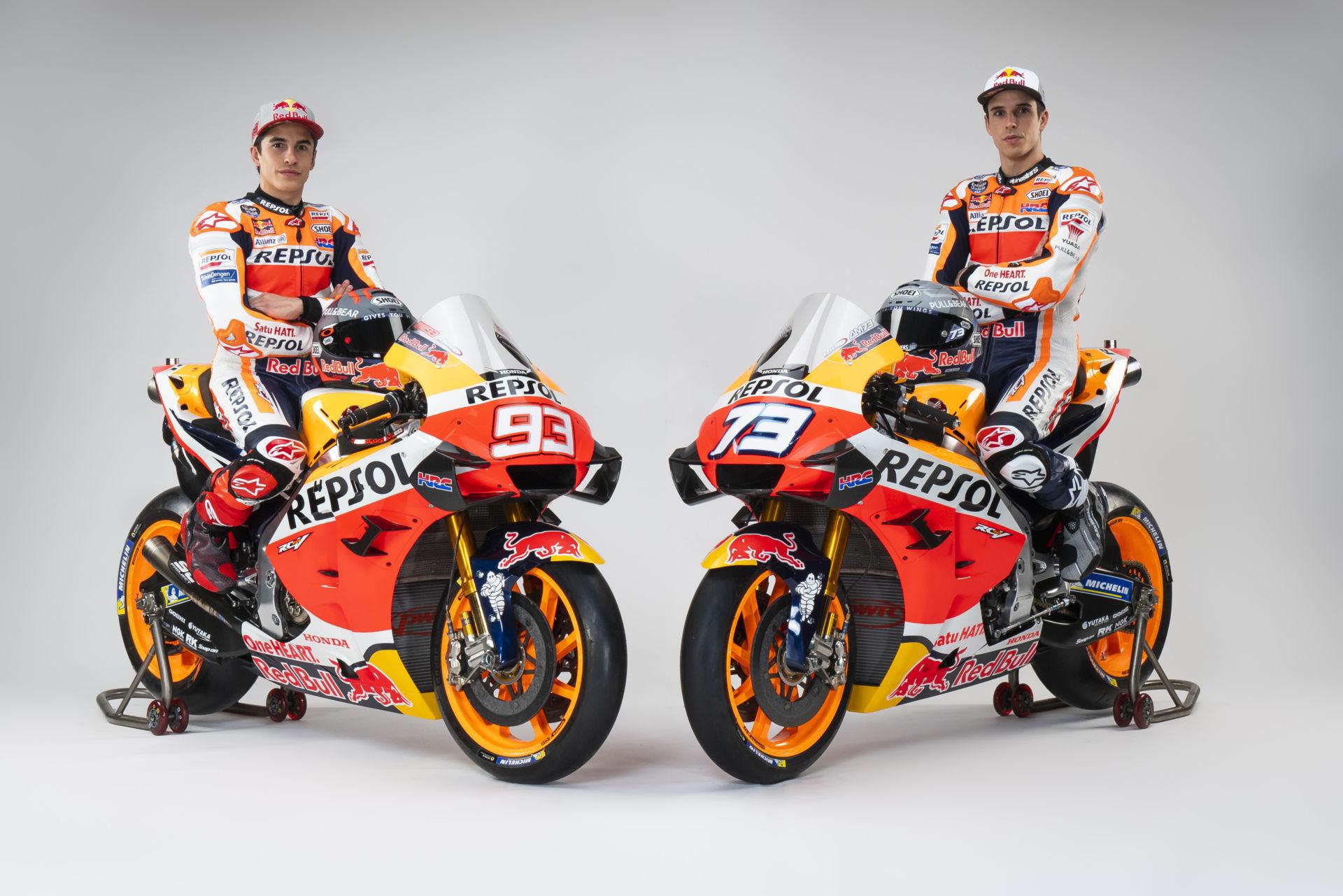 Marc Marquez (left) and Alex Marquez (right). Photo courtesy of Repsol Honda.