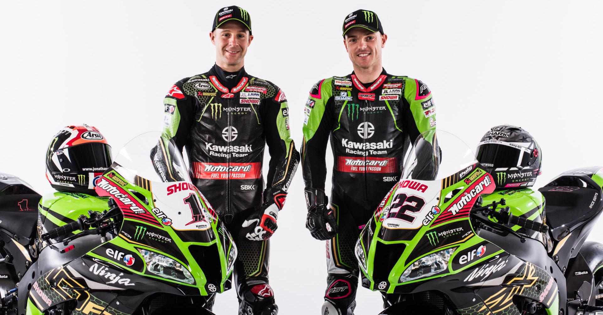 Jonathan Rea (left) and Alex Lowes (right). Photo courtesy of Kawasaki.