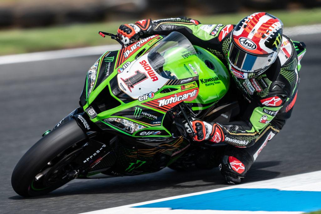 Jonathan Rea (1). Photo courtesy of Kawasaki.