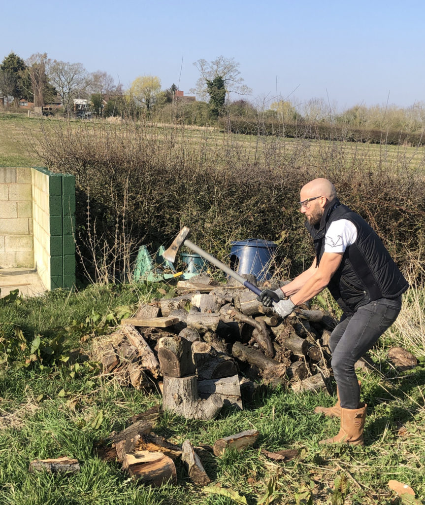 World Superbike racer Tom Sykes working on his property in England. Photo courtesy of BMW Motorrad Motorsport.