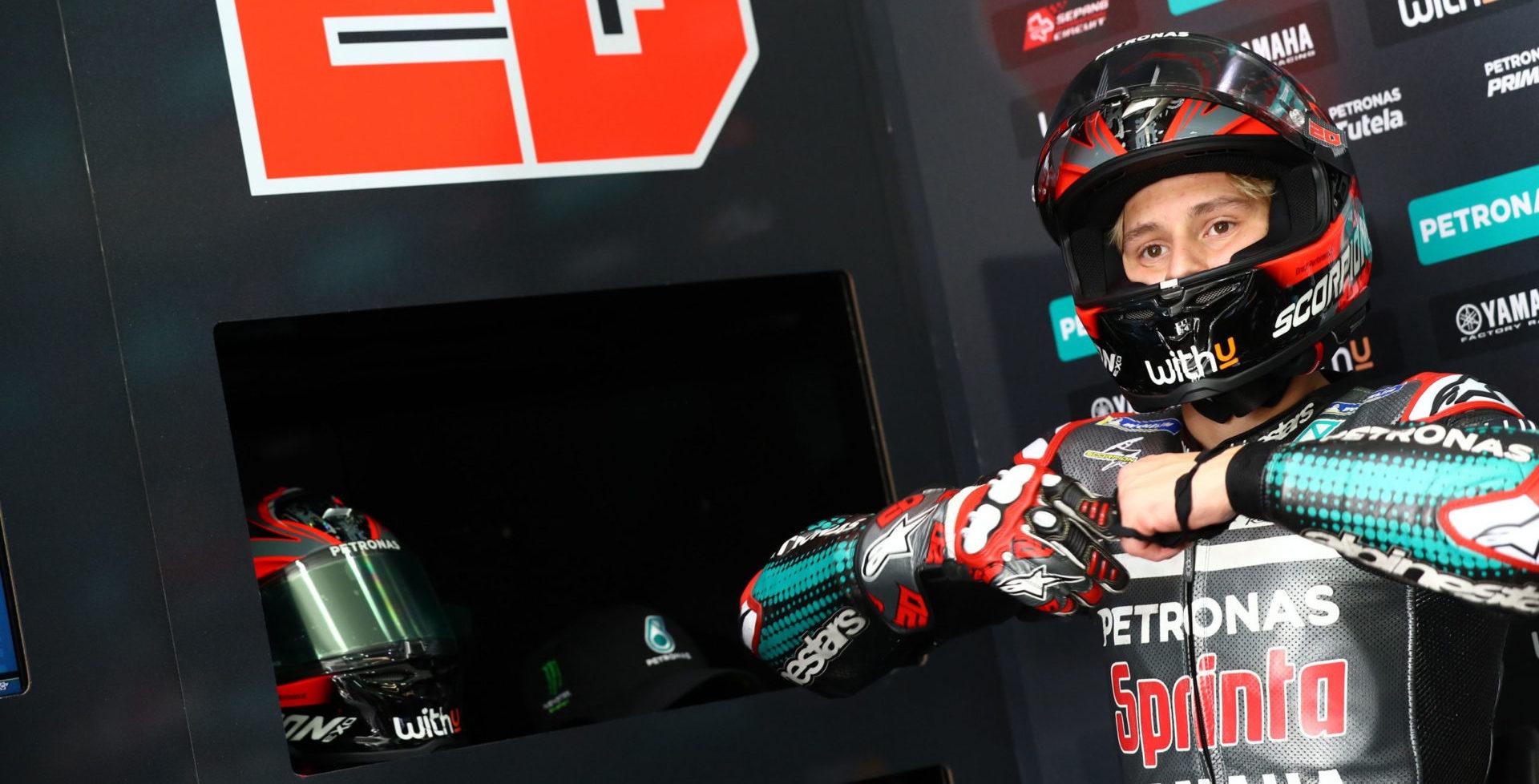 Fabio Quartararo. Photo courtesy of PETRONAS Yamaha Sepang Racing Team.