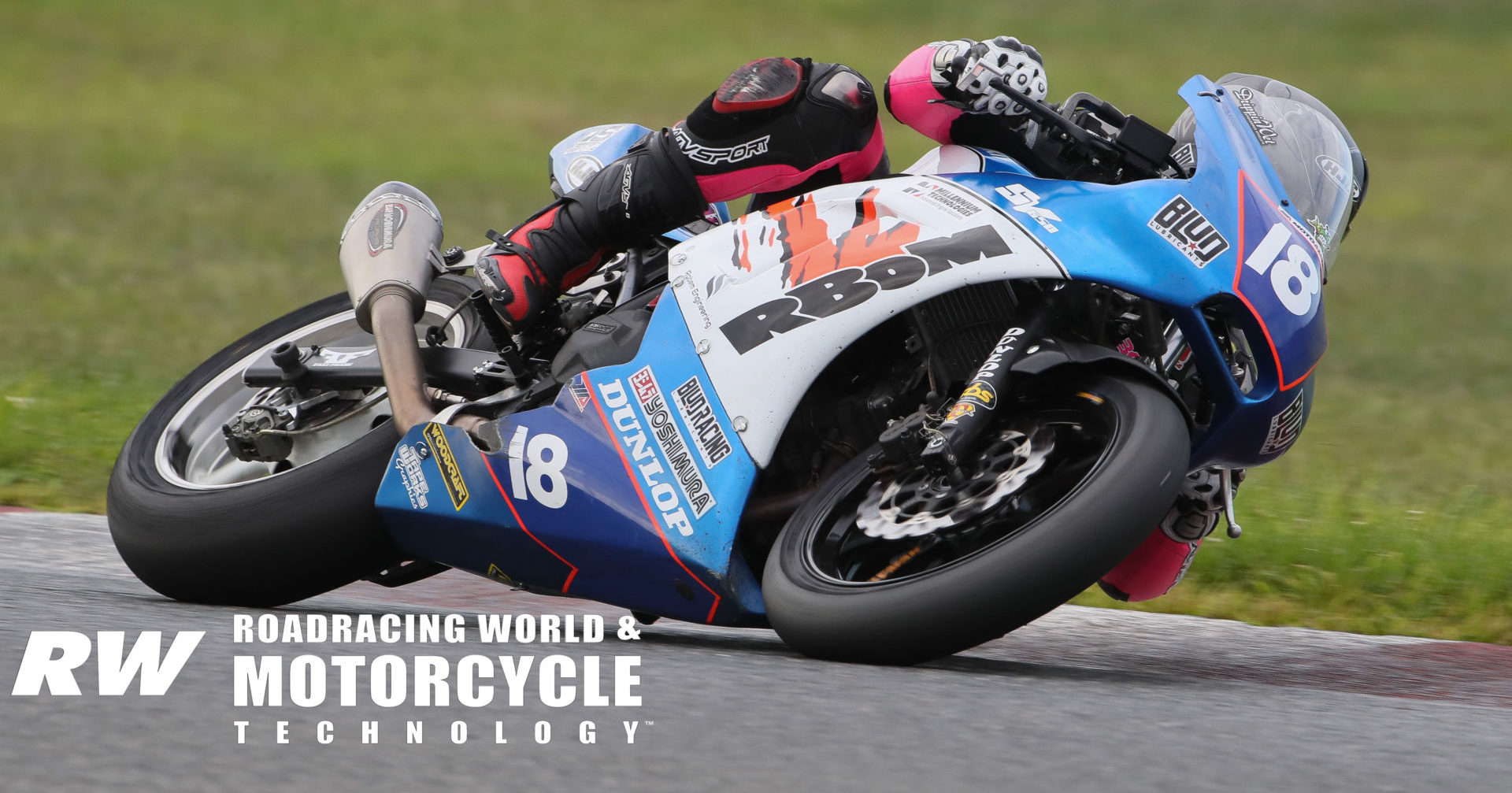 Jackson Blackmon (18) in action at a MotoAmerica Twins Cup event in 2019. Photo by Brian J. Nelson.