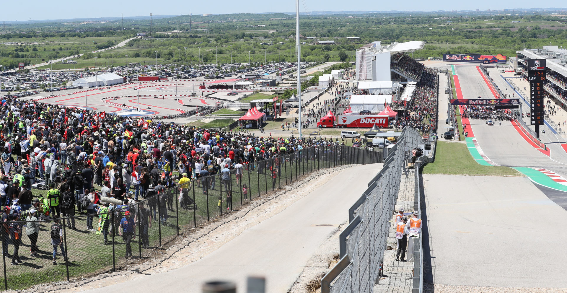 A scene from the 2019 Red Bull Grand Prix of The Americas at Circuit of The Americas. Photo by Brian J. Nelson.