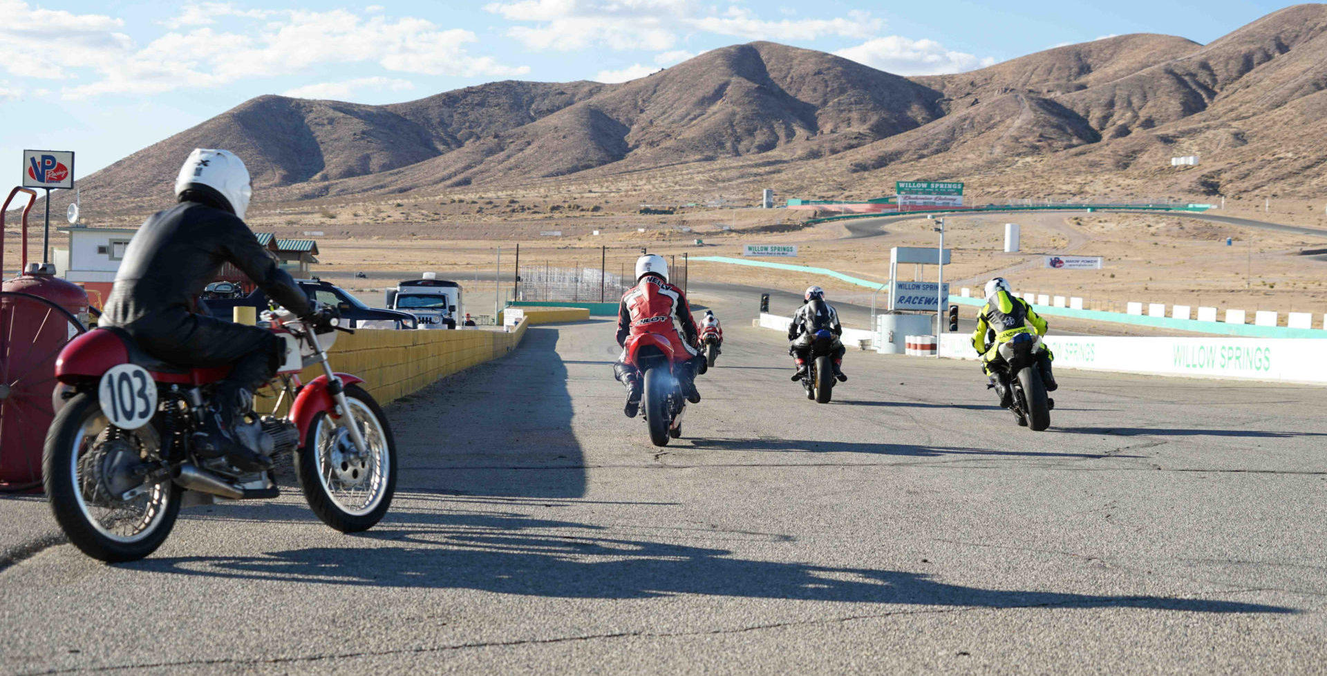 A scene from a Classic Track Day at Willow Springs International Raceway. Photo courtesy of Classic Track Day.
